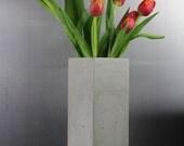"Concrete Vase 12"""