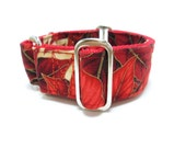 """Houndstown 1.5"""" Christmas Poinsettia Martingale Collar Size Small, Medium, or Large"""