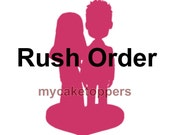 Custom wedding cake toppers, rush order, fast shipping