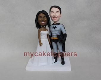 Batman wedding cake topper,custom wedding cake topper, cake topper for wedding, personalized batman cake topper,batman,super hero,funny