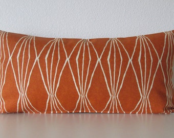Robert Allen Handcut Shapes Orange Crush geometric decorative pillow cover