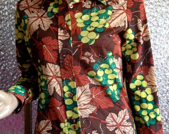 70s Autumn Leaves Womens Shirt