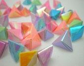 50 Glossy Pearl Spring Shower Korean Origami Lucky Stars a.k.a. Origami Crane Eggs