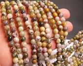Purple Moss agate - 6mm(6.4mm) round beads - full strand -  63 beads - RFG21