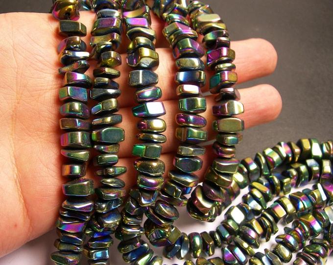 Hematite rainbow mystic nugget beads - full strand -70 beads - 12mm -  A quality - PHG152