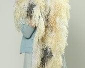 Special listing for  Joanne --Felted Fur Сape  Shawl Warmer Collar Felted scarf OOAK