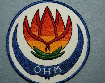 Ohm Iron on Patch 4.5 inch