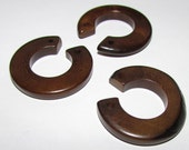 Brown Partial Donuts, Earring Parts, Drilled, 2 Beads, EcoBeads