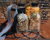 ELEMENTAL Witch Bottles SOL & LUNA Choose Salt For Sun, Moon Honouring, Lord n Lady, Balancing Opposites, Day n Night, Male Female Energies