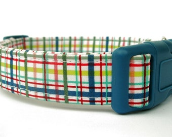 Summer Plaid Dog Collar