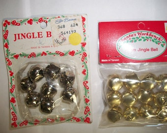 Pair of Packaged 16mm Brass  and Silver Color Jingle Bells