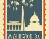 Washington DC Print, DC map, Vertical DC,  dc wall decor, dc Gift, dc Nursery, dc office print, dc flag, dc design, dc art -style E8-O-DC2