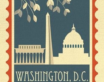 Washington DC Print, DC map, Vertical DC,  dc wall decor, dc Gift, dc Nursery, dc office print, dc flag, dc design, dc art -style E8-O-DC2