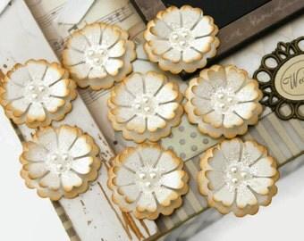 Ivory Flower Wedding Embellishments scrapbooking cardmaking wedding