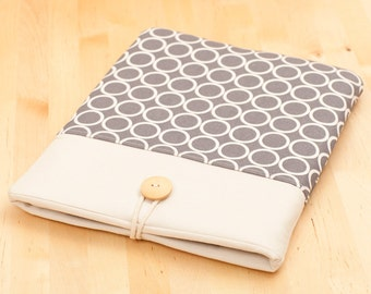 "15 inch Macbook pro retina sleeve, Macbook 15 case, 15"" macbook pro retina cover, macbook 15 sleeve - circles"