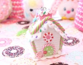 Kawaii Sprinkle Candy House Necklace