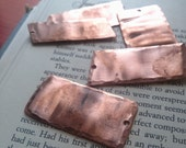 Lot of Rectangular Copper Stamping Blanks (5)/Metal Stamping Blanks/Necklace Blank/Recycled Metal Tags/Upcycled Jewelry Findings Charms