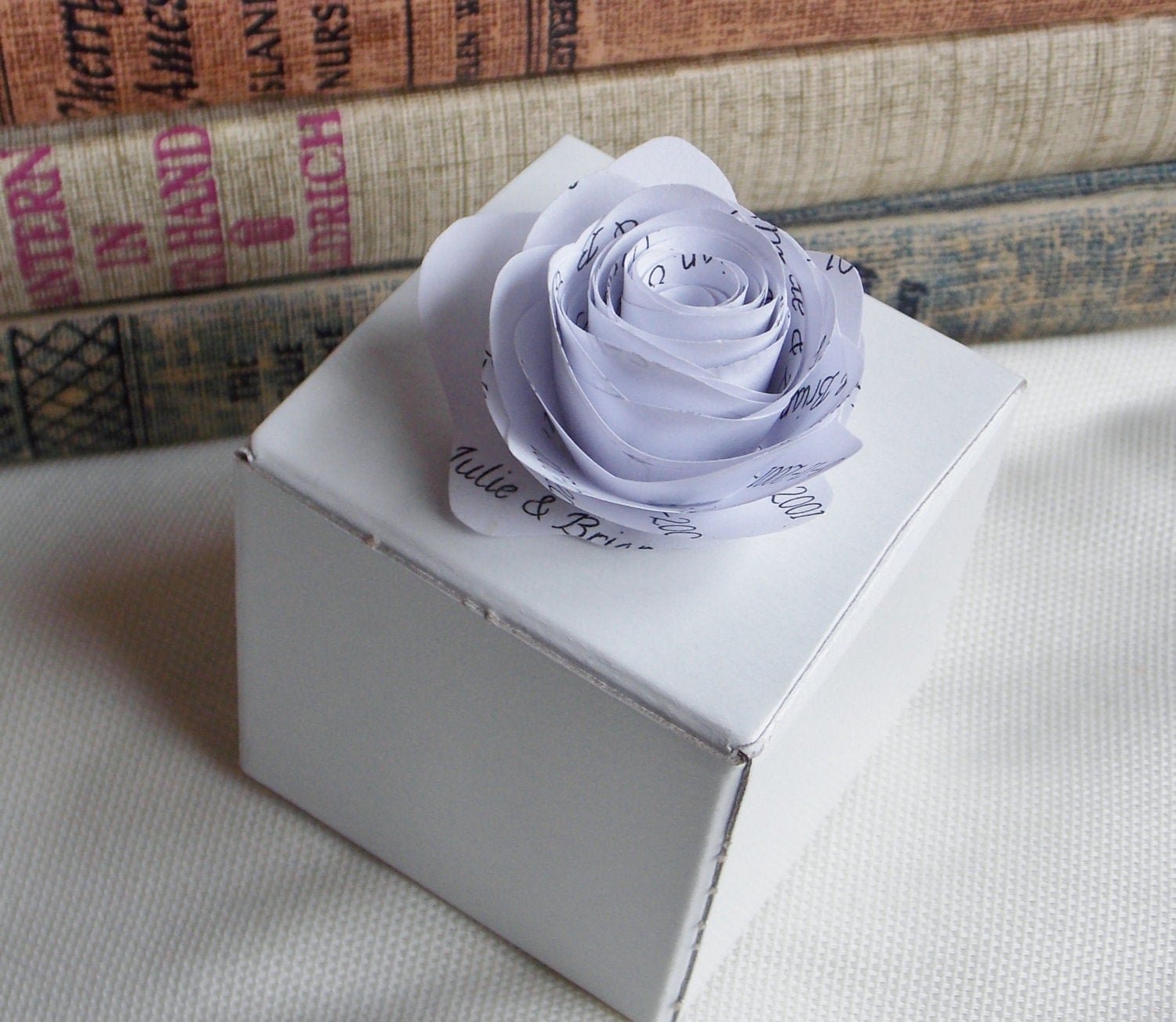 Gift Box Favor Box Personalized Wedding Favors By Bellerosedesigns