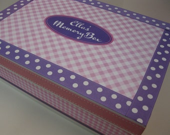 Lavender and Pink Keepsake Box