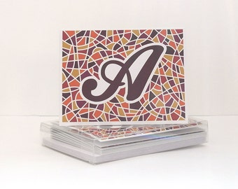 Monogram Stationery - Alphabet Notecards - Letter Cards