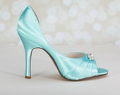 Wedding Shoes -  Heel 3.5 Inches  Custom Wedding Shoes - Choose From Over 150 Color Choices - Custom Colored Wedding Shoes - Bespoke Shoes