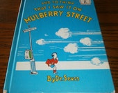 Dr. Seuss 1937 Book Club Edition And To Think That I Saw It On Mulberry Street Beginner Books I Can Read it All by Myself