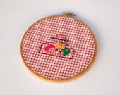 Had Embroidered Vintage TV Ham Dinner