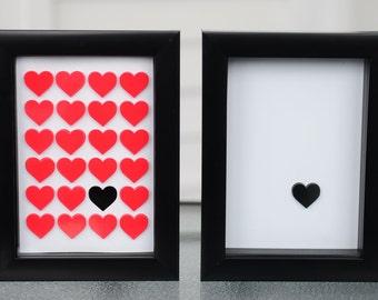 Items Similar To String Art Thread Nails 39 Love 39 Wall