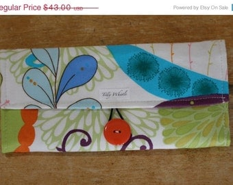 Sale Fabric Wallet Floral Print With Zipper Pocket, Girls Wallet - Ready to Ship