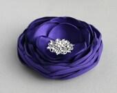 Purple Flower Hair Clip, Wedding Hair Accessory, Purple Flowers For Hair, Bridal Flower Hair Piece, Bridesmaid Accessory, Flower Girl Hair