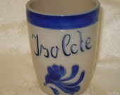 Isolde - vintage salt-glazed pottery name cup or tumbler, no maker's mark