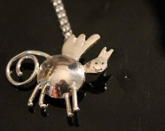 Your Child's Art as a Silver Pendant