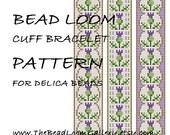 Bead Loom Cuff Bracelet Pattern Vol.44 - Thistle Bracelet - PDF File PATTERN