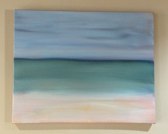SALE 50% Off Original Large Seascape Ocean Beach Paintings Modern Contemporary