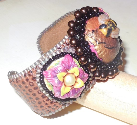 Pattern tutorial bead embroidery cuff bracelet for