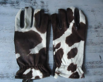 Vintage Deerskin Leather Gloves/Made in USA Woman's Winter Gloves