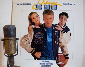 "ON SALE Johnny Be Good Vintage Vinyl LP Record 1980s Robert Downey Jr Movie Soundtrack Music ""Johnny Be Good""(Scarce Promo 1988 Atlantic)"