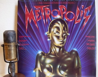 "ON SALE Metropolis Vinyl Record Album 1980s Giorgio Moroder Remake Fritz Lang Movie Soundtrack ""Metropolis"" (1984 CBS w/""Love Kills"")"