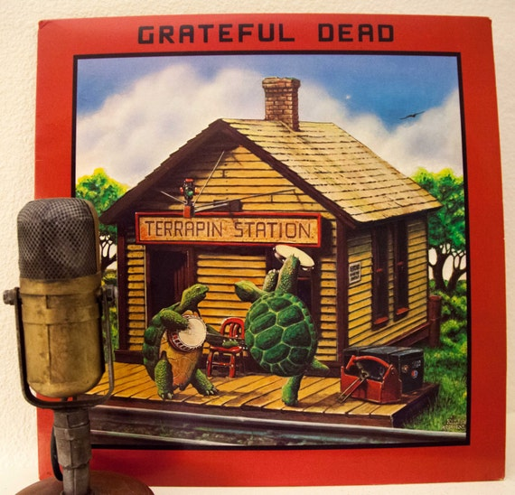 "Grateful Dead Vinyl Record Album 1970s Jerry Garcia ""Terrapin Station"" (1977 Arista Records w/""Estimated Prophet"") Vintage Vinyl"