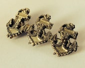Superb late 1800s vintage anchor design silver sweetheart brooch - Victorian antique pin