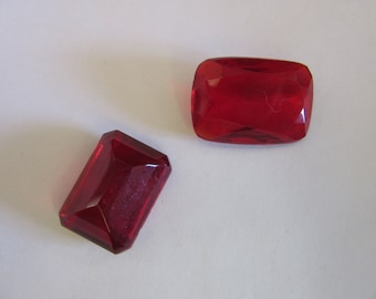 21x30mm unmounted Siam Red Clear Glass Rhinestones,R125, Vintage 1980, 10mm thickness,Ring or Jewelry, Jewelry supplies