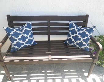 NEW to my store....ONE  throw pillow cover 16x16 Navy Fynn