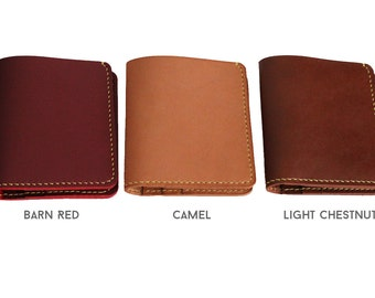 Baseball Glove Leather bifold wallet in CAMEL
