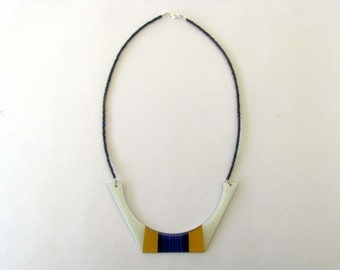 Necklace Resin-Resin Bib Necklace-Resin Jewellery-Geometric Resin Necklace-Resin Statement Necklace-Contemporary Jewelry Modern Jewelry