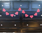Heart Garland, Valentine Banner, Photography Prop- READY TO SHIP