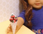 Miniature American Girl AG Doll Valentines Chocolate Covered Strawberries