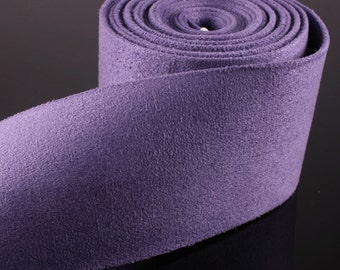 1YD-50mm Suede Ribbon Tape made of Specially Formulated Fabric,thin,soft but hold the shape-Purple(B300)