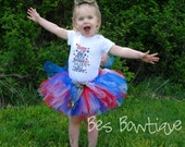 Home of the Free Because My Daddy is Brave Military Tutu Outfit - For Sizes 0-3 months - 6 - Army, Navy, Marines, and Airforce