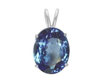 tanzanite pendant sterling jewelry