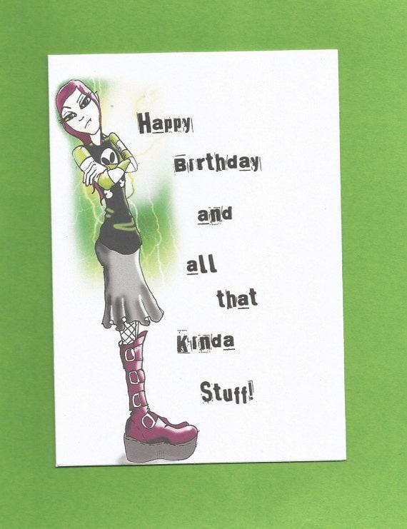 teenage birthday cardfunny teenage birthday cardgoth